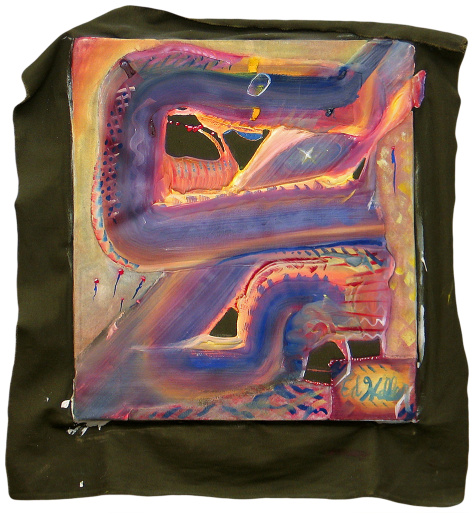 Untitled Painting circa 1992 - Gesso, Oil and Acrylic on Cotton Duck - by Edward Heller